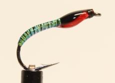 Nymphe Nr. 102 - Pearl-Schwarz-Rot