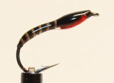 Nymphe Nr. 108 - Schwarz-Pfau-Rot