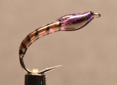 Nymphe Nr. 136 - Violett-Schwarz-Schwarz
