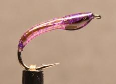 Nymphe Nr. 137 - Violett-Violett-Schwarz