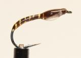Nymphe Nr. 119 - Braun-Gold-Weiß