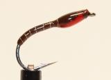 Nymphe Nr. 121 - Braun-Silber-Rot
